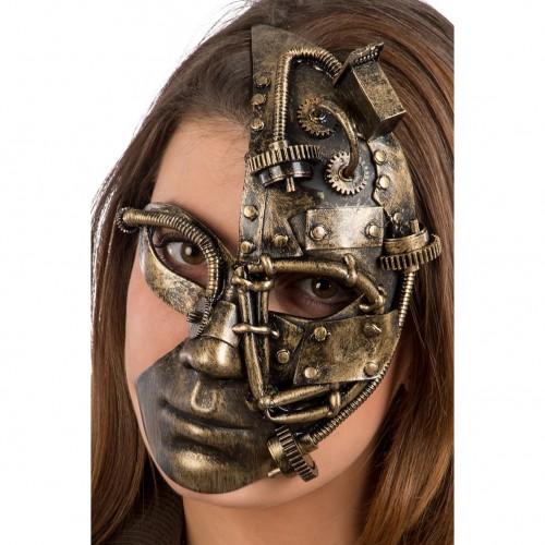 Demi masque steampunk