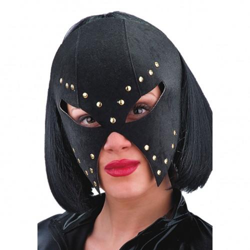 Masque noir clouté