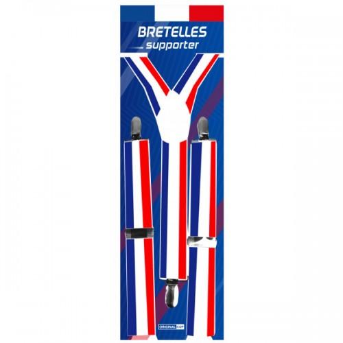 Bretelles tricolores supporters Français