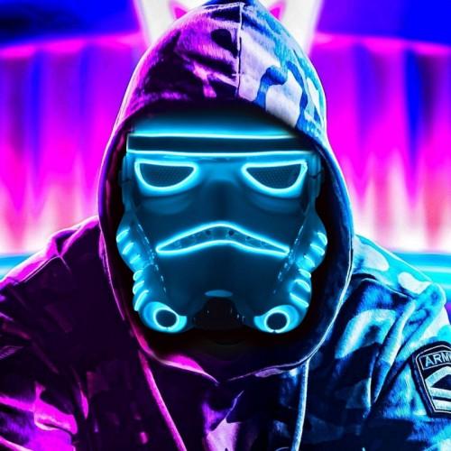 Masque troopers led bleu