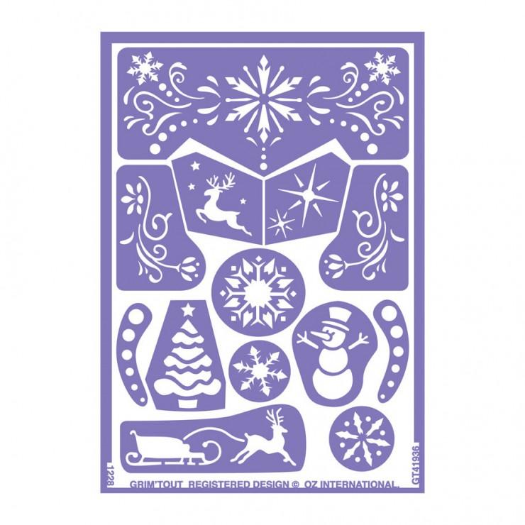 Pochoirs reine des neiges