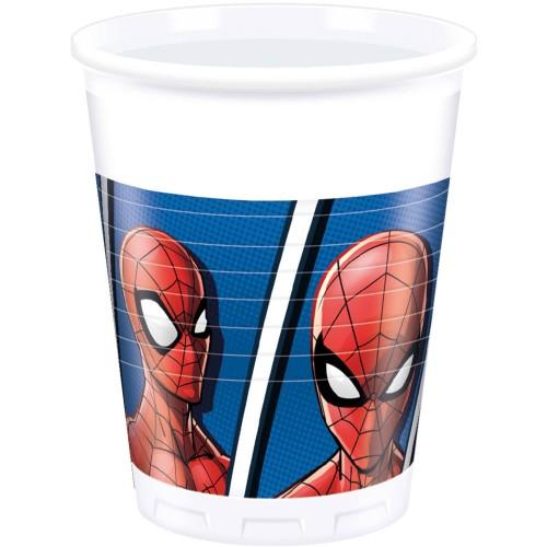 Gobelets Spiderman x8