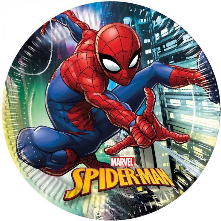 Assiettes anniversaire spiderman