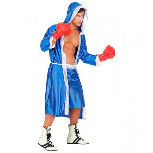Déguisement de boxeur bleu