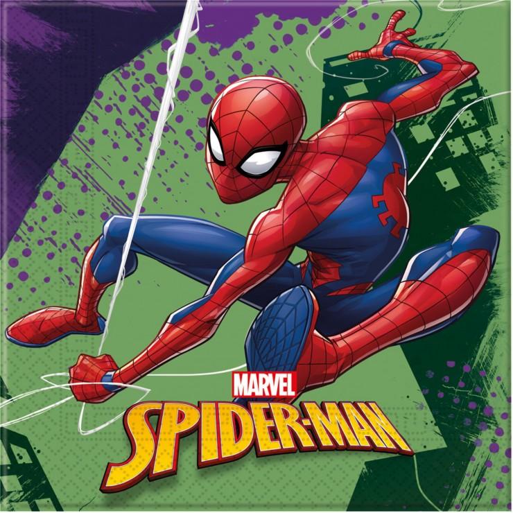 Serviettes Spiderman x20