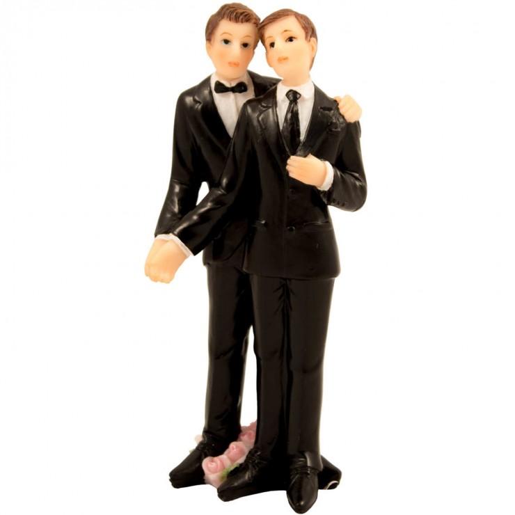 Figurine couple de mariés 2 hommes