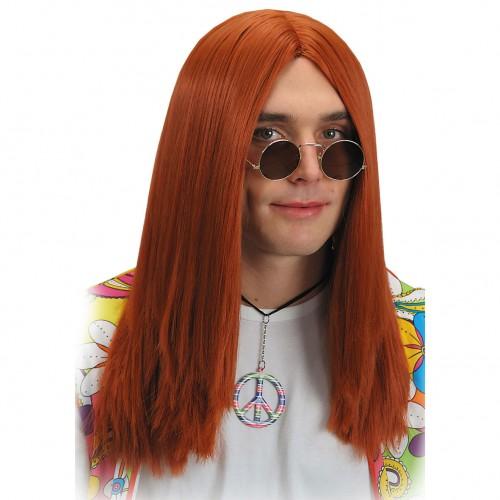Perruque hippie roux