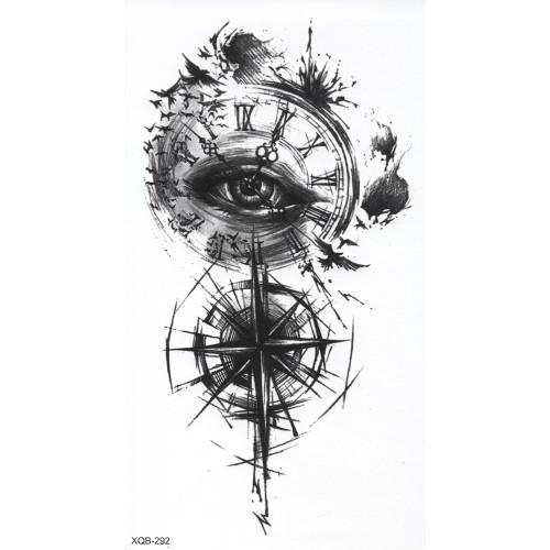 Tatouage Geo timeless noir et blanc