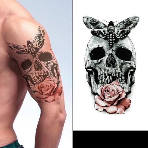Tatouage skull rose