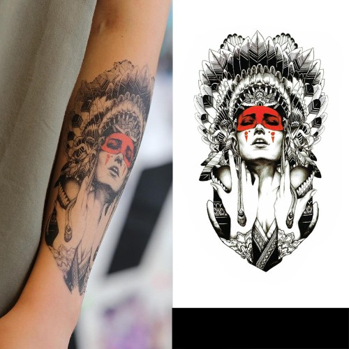 Tatouage Amérindienne