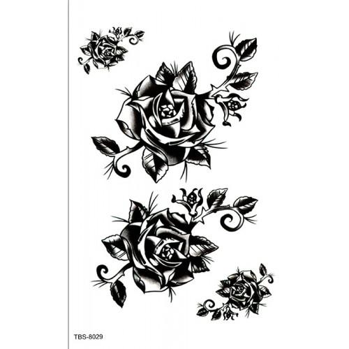Tatouages roses noirs & blancs