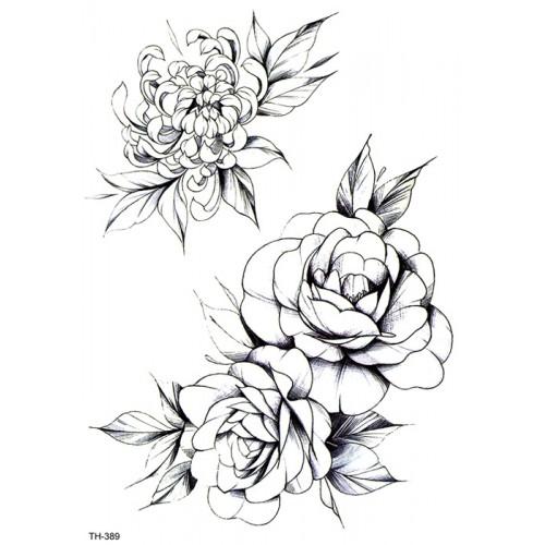 Tatouages fleur noir & blanc