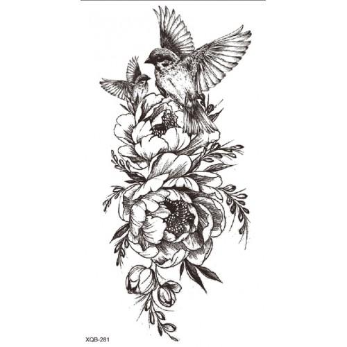 Tatouage birdy flower