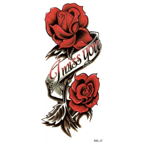 Tatouage roses I miss you