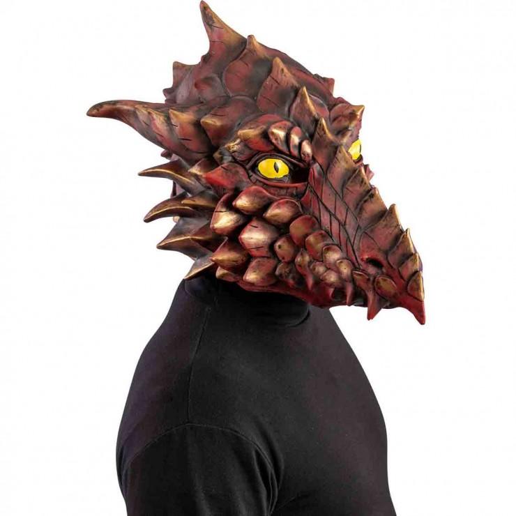 Masque dragon rouge