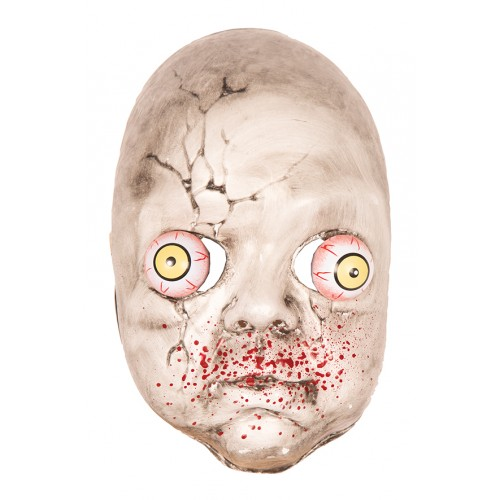 Masque bébé zombie yeux tramblants
