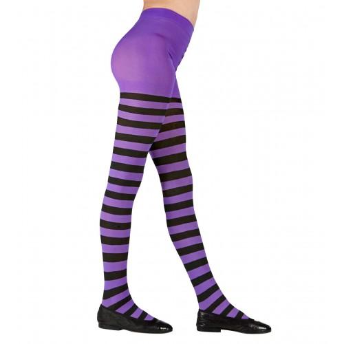 Collant rayé violet noir 7/10 ans