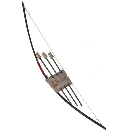 Arc en bois avec 3 flèches