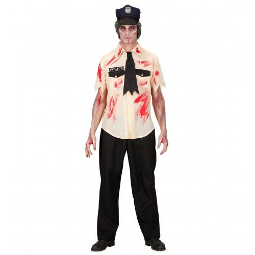 Déguisement policier zombie adulte