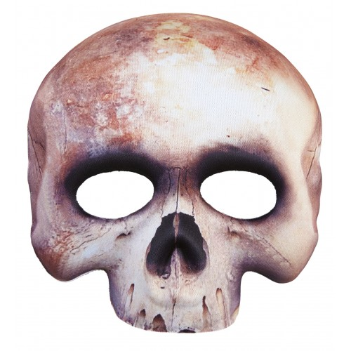 Demi masque squelette tissu