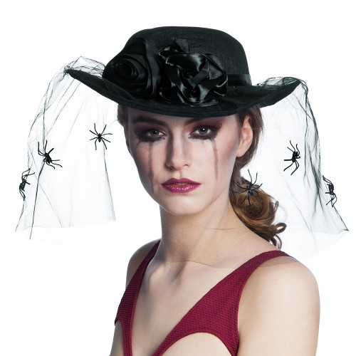Chapeau veuve noire
