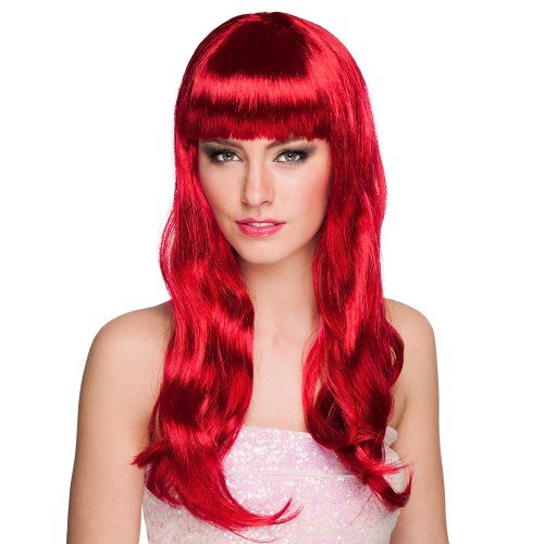 Perruque chic rouge rubis