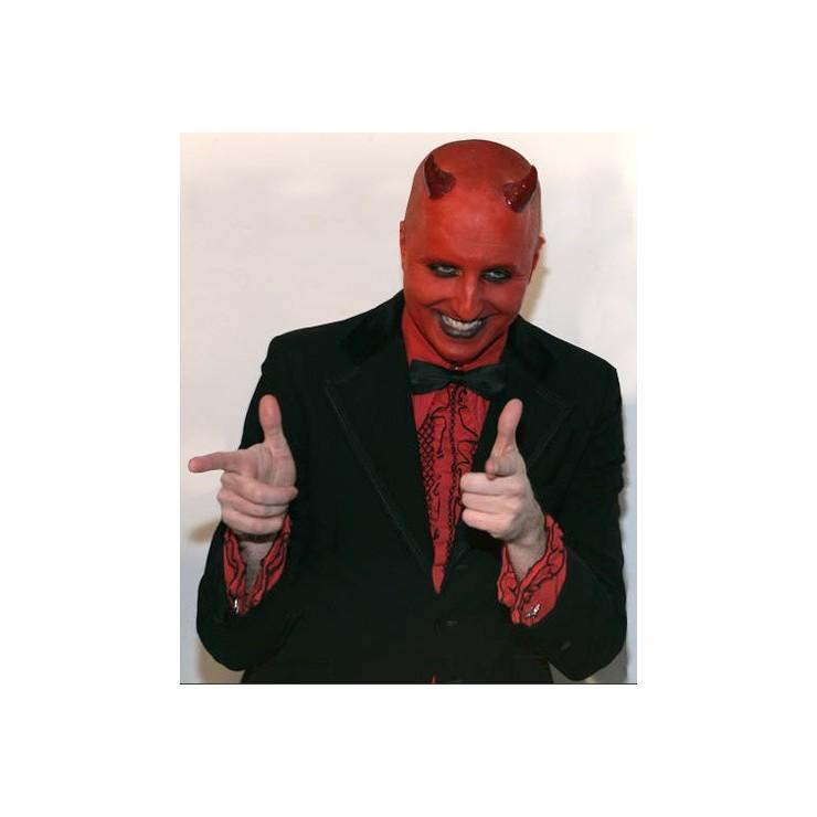 Chemise rouge froncée noire