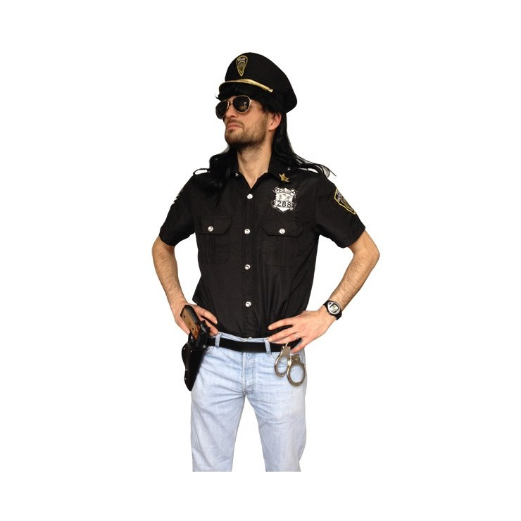 Costume policier (chemise et casquette)