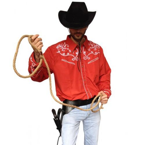 Chemise cowboy rouge