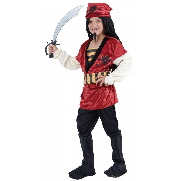 Costume pirate rouge