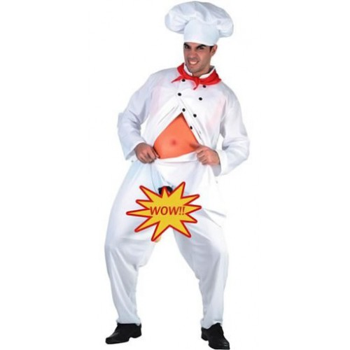 Chef cuisinier exhibitionniste