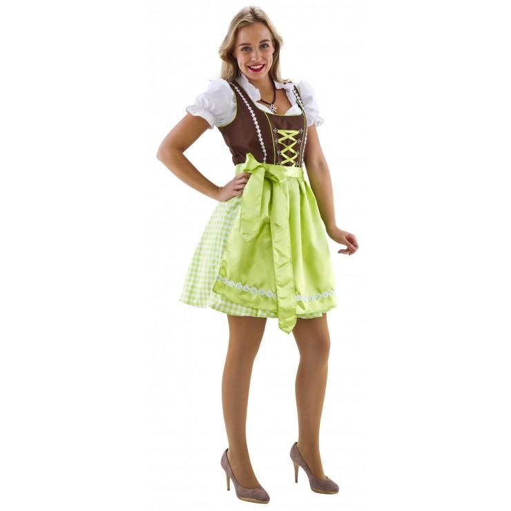 Costume Dirndl luxe brun et vert