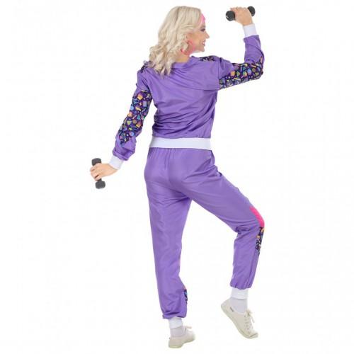 Jogging femme 80's mauve