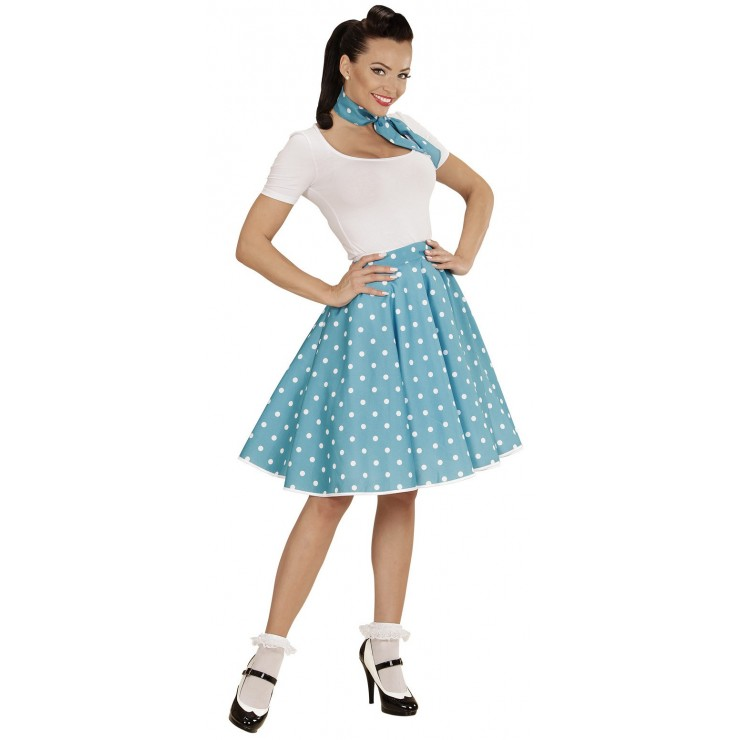 Jupe Rock'n roll 50's turquoise