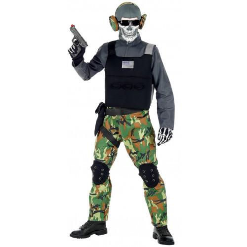 Déguisement squelette soldat