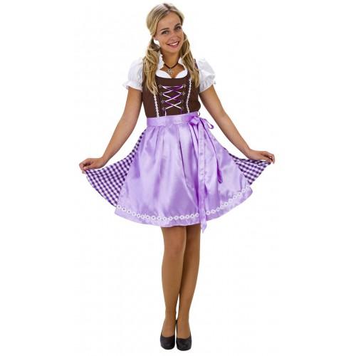 Costume Dirndl luxe brun et lilas