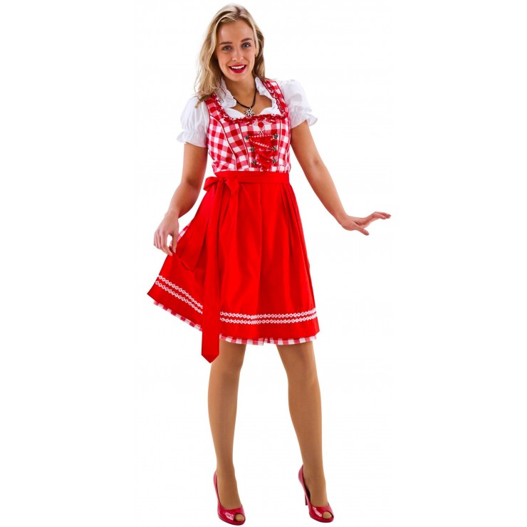 Costume Dirndl luxe rouge et blanc