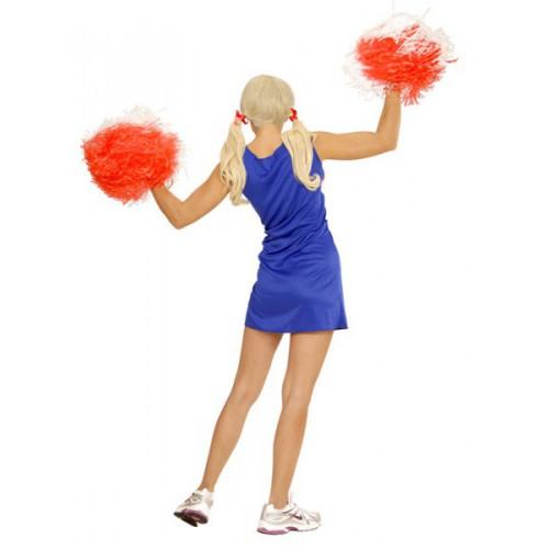 Pom pom girl bleue & rouge