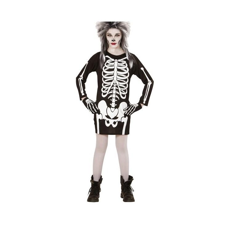 Robe squelette enfant