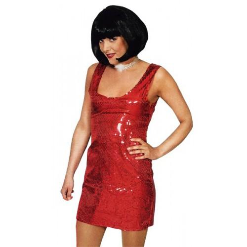 Robe Rio à paillettes rouges