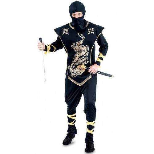 Déguisement Ninja doré