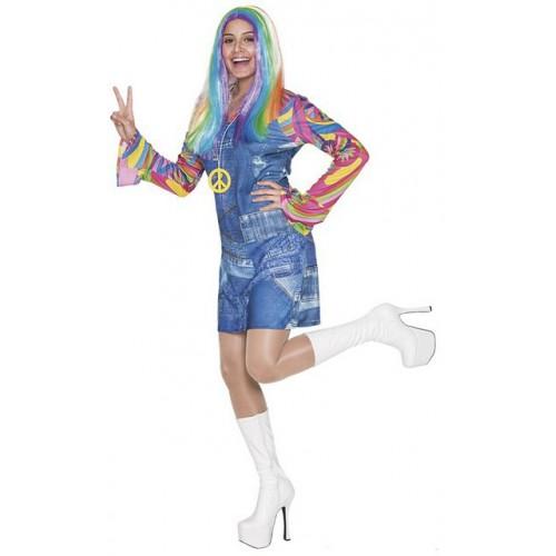 Déguisement femme hippie jean