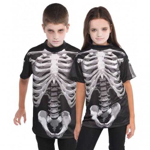 T-shirt squelette enfant x1