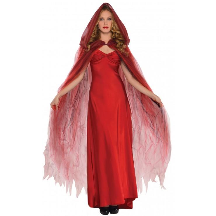 Cape Halloween rouge de luxe