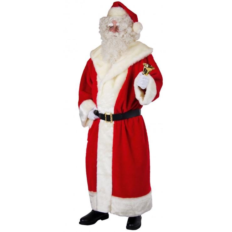 Déguisement père Noël peluche luxe