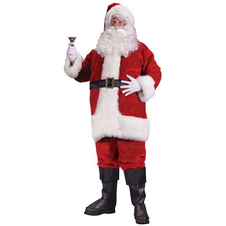 Costume père Noël Américain Velours Luxe