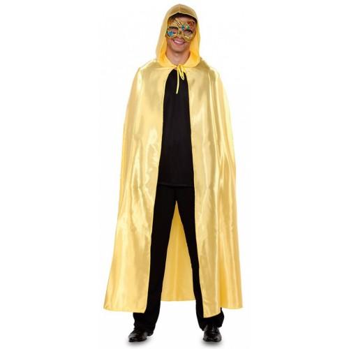 Cape dorée avec capuche