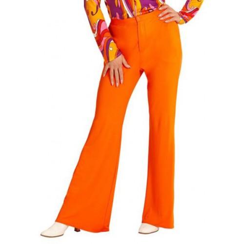 Pantalon femme disco orange