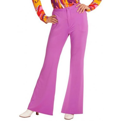 Pantalon femme disco lilas