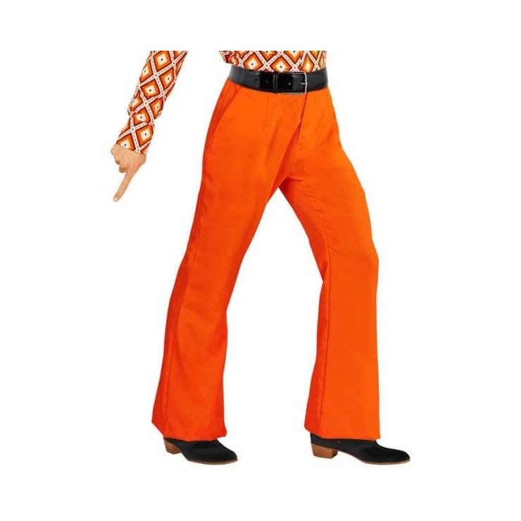 Pantalon homme disco orange